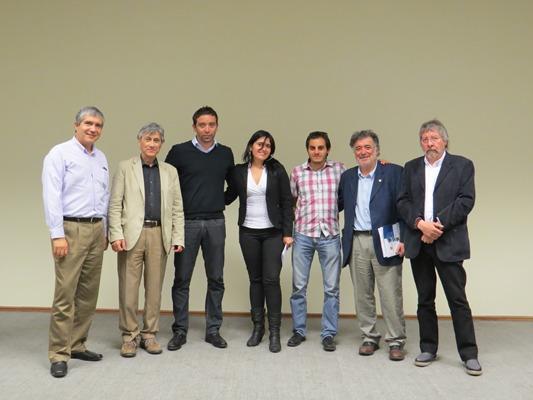 Equipo organizador y expositores de nuestro seminario: Carlos Saavedra, Rolando Rebolledo, Carlos Herrera, Pamela Reyes, Juan Pablo Staforelli, Carlos Zapata y Edgardo Neira.